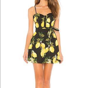 NWOT L'Academie Lemon Dress